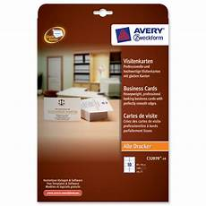 Avery Business Cards 10 Per Sheet Avery Business Cards Multifunctional 200gsm 10 Per Sheet