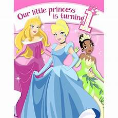 Disney Birthday Invites Disney Princess First Birthday Party Birthday Wikii