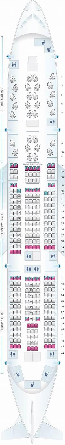 Alitalia Flight 631 Seating Chart Seat Map Alitalia Airlines Air One Boeing B777 200er