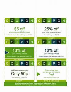 Free Lunch Coupon Template 50 Free Coupon Templates ᐅ Templatelab