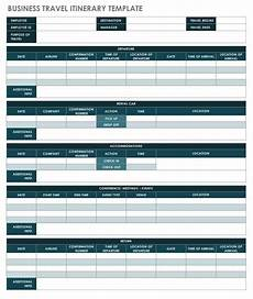 Detailed Itinerary Template Free Itinerary Templates Smartsheet