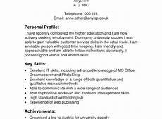 Personal Profile Resume Sample Best Cv Personal Profile Examples Best Resume Examples