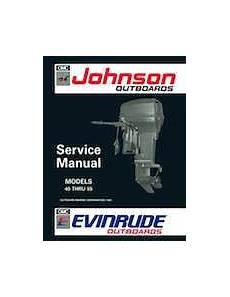 1992 Johnson Evinrude Quot En Quot 40 Thru 55 Service Manual P N