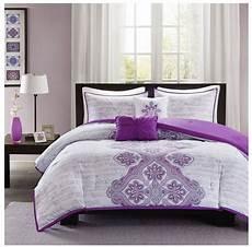 new bed bag xl 5 pc purple gray grey