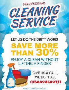 Cleaning Flyer Ideas Professional House Cleaning Service Flyer Sample