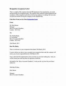 Resignation Letter Content Resignation Acceptance Letter