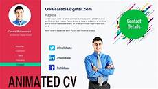 Motion Graphics Cv Motion Graphic Cv On Powerpoint Animated Cv On