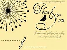 thank you card template wedding free wedding thank you messages 365greetings
