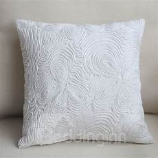 luxury made european style white throw pillow