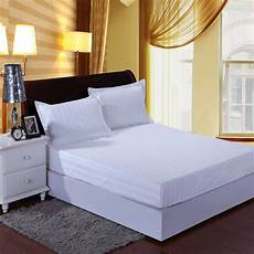 bed skirt fitted sheet white 25cm fall hotel