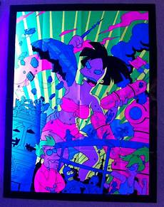 Futurama Light Rare Futurama Mind Bending Black Light Poster Amy