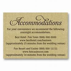 How To Word Hotel Accommodations For Wedding Invitations Burlap Wedding Accommodation Reception Cards Zazzle