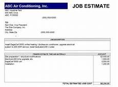 Job Estimates Job Estimate Template Free Quotation Templates Estimate