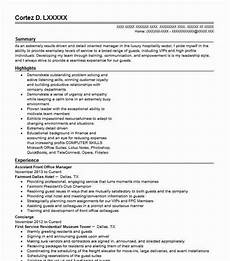 Office Manager Assistant Resumes Assistant Front Office Manager Resume Sample Livecareer