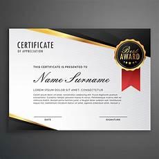 Design A Certificate Online Free Luxurious Certificate Design Vector Template Download
