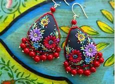 muy muy elegante mexican embroidery teardrop earrings