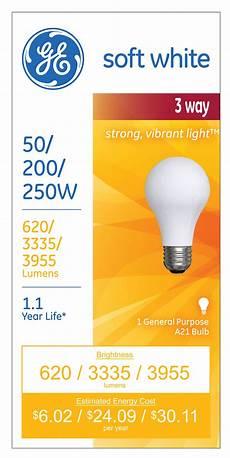 Walmart Light Bulb Ge A21 3 Way Light Bulb Walmart Com Walmart Com