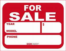 For Sale Car Sign Template 7 Best Images Of Free Printable Signs For Sale Auto Car