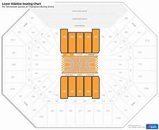 Thompson Boling Arena Seating Chart With Row Numbers Thompson Boling Arena Tennessee Seating Guide