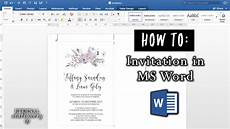 How To Make Invitations On Microsoft Word How To Make An Invitation In Microsoft Word Diy Wedding