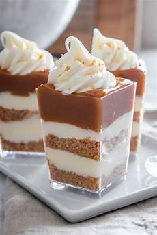 no bake caramel cheesecake shooters desserts caramel