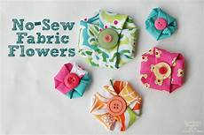 fabric crafts no sew no sew fabric flowers scattered thoughts of a crafty