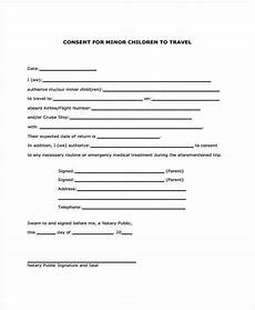 Child Travel Consent Form Samples Free 8 Travel Consent Forms In Pdf Ms Word