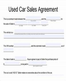 Vehicle Purchase Agreement Form Free 11 Vehicle Sales Agreement Samples In Pdf Ms Word