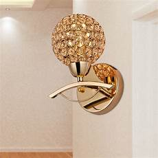 Crystal Sconce Lights 2015 Brief Modern Single Crystal Wall Sconce Golden Wall