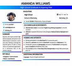 Hobbies And Interests On A Resume What Hobbies And Interests To List On Your Cv Cv Politan