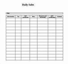 Daily Sales Record Book 21 Word Log Templates Free Download Free Amp Premium