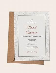 Funeral Invitation Sample Simple Funeral Invitation Template