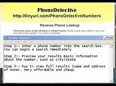 Address Of Phone Number Free Phone Number Lookup Youtube