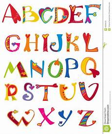Letter Desings Alphabet Design In A Colorful Style Stock Vector
