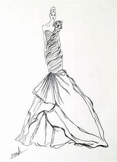 artist original fashion illustration sketch pencil drawing