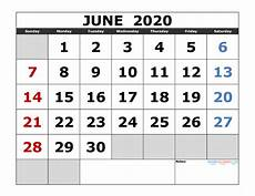 June 2020 Calendar With Holidays June 2020 Printable Calendar Template Excel Pdf Image