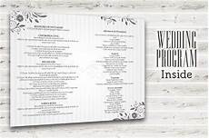 Program Template For Wedding Wedding Program Template Psd 2 Sided Graphicfy