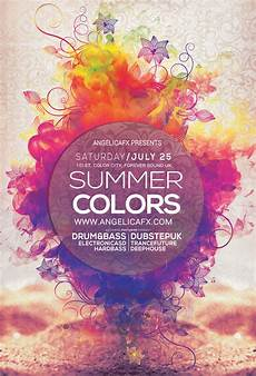 Flyer Color Summer Colors Flyer Template Flyer Templates On Creative