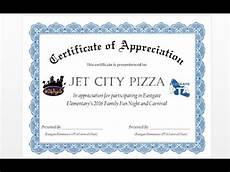 Certificate Of Apreciation How To Make Formal Certificate Of Appreciation Award With