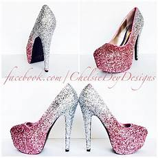 Light Pink Sparkly Heels Glitter High Heels Blush Pink Pumps Light Pink Silver