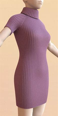 knitting dress stitch meshes for modeling knitted clothing with yarn