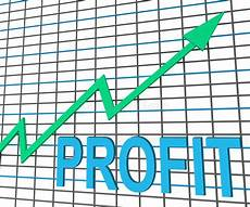 Profit Chart Profit Chart Graph Shows Increase Cash Wealth Stock