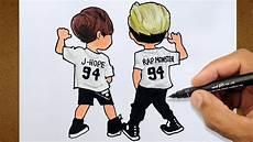 garotos bts k pop vamos desenhar colorindo e desenhando