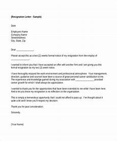 Exit Letter To Employer 26 Simple Resignation Letters Word Pdf Docs Free