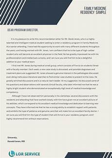 Letter Of Recommendation For Residency Residency Letter Of Recommendation Sample Medical Lor