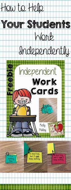 Working Independently An Apple For The Teacher How To Help Your Students Work