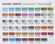 Daniel Smith Watercolor Color Chart Daniel Smith Extra Fine Watercolors Watercolor Color