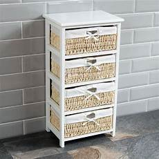 4 drawer wood maize basket drawers white cupboard cabinet