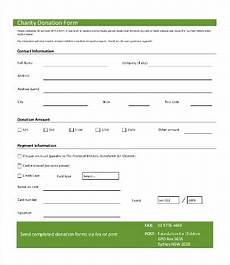 Donation Pledge Form Template 14 Free Samples Of Donation Form Templates Word Excel