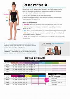 Weissman Size Chart Weissman Costume Size Charts Printable Pdf Download